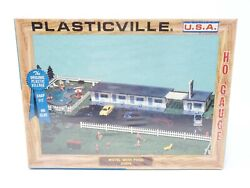 Vintage Retro Bachmann Plasticville Ho Scale Motel With Pool 2903-198 Sealed