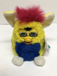 Vintage 1999 Furby Baby Yellow Blue 70-940 Nonworking Free Shipping