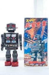 Horikawa Tin Plate Robot Toy Super Martian King With Box 1960s Antique Used