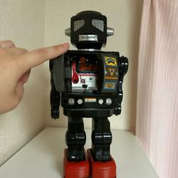 Horikawa 30 Cm Tin Plate Robot Toy Martian King Made In Japan 1960s Antique Used
