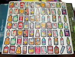Rare Vintage Early 1970and039s Wacky Packages Wall Poster - Limited Mail Order Offer