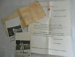 Vintage 1954 New York Yankees Scout Paul Krichell Invitation To Workout Tryout