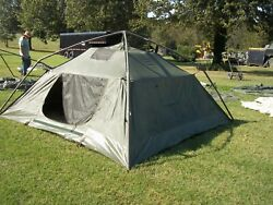 Military Surplus Soldier Crew Tent Army Self Standing Camping 10 X10 Camping Us