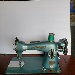 Vintage Teal Standard Deluxe Precision Straight Stitch Sewing Machine