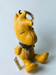 Nwt Coach X Peanuts Leather Woodstock Collectible Bag Charm Keychain Limited Ed