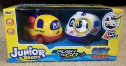 Junior City Racers Lights And Sounds Push N Go Ambulance And Tow Truck New Sealed