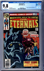 Eternals 1 Cgc 9.8 White Pages Jack Kirby Origin And 1st Appearance 1976