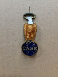Vintage Case Enameled Old Abe Metal Eagle Watch Fob Advertising Agriculture