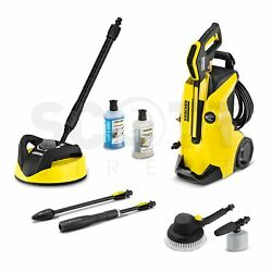 Karcher K4 Full Control Car And Home Pressure Washer 240v + T350 Patio Cleaner