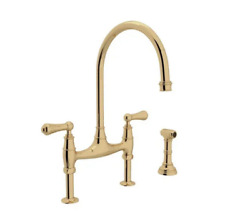 Rohl Perrin And Rowe Bridge Kitchen Faucet | Unlacquered Brass | U.4719l-ulb-2