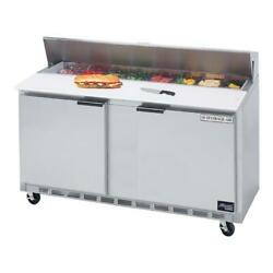 Beverage Air - Spe60hc-08c-23 - 60 In Cutting Top Prep Table W/ Casters