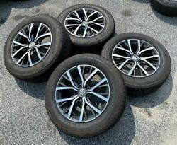 Set Of 4 Used Oem Volkswagen Tiguan 17 Takeoff Tires And Wheels 5na601025aa