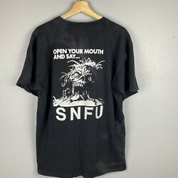 Vintage 90s Snfu Canadian Punk Open Your Mouth And Sayandhellip Shirt Single Stitch Xl