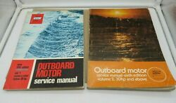 Abos Outboard Motor Service Manuals 1970 5th/6th Editions Vol 1 And 2 Motors