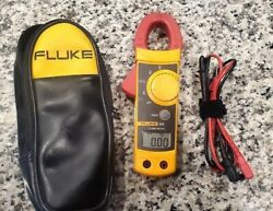 Fluke 322 Multimeter Clamp Meter With Case Electric Amp Nice
