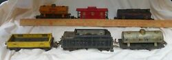 O Gauge Manufactured1944andnbsp Lionel Toy Train Track And 6 Cars Plus Old Transformer