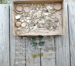 Gold Filled. Gold Recovery Lot Jewelry. Glasses. Pocket Watch Cases. Watches