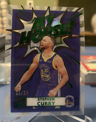 Stephen Curry 2020-21 Panini Clearly Donruss Green Foil My House Insert 23/25
