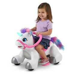 Rideamals Unicorn Ride-on Toy By Kid Trax, 6-volt, Toddler, Powered New