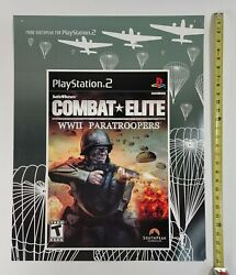 Combat Elite Wwii Paratroopers Video Game Store Display Sign Sony Ps2 Promo