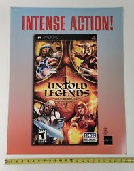 Untold Legends Video Game Store Display Sign 22x28 Sony Psp Promo Advertising