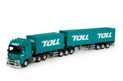 Tekno For Mb Road Train Container Trailer Mod 084064d-lzv Toll Q3 1/50 Model