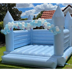 15x15ft Inflatable Wedding Bounce House Bouncer Castle Bouncy With Air Blower