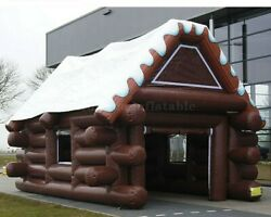 20ft Inflatable Ski Cabin Pub House Bar Tent Event Waterproof With Air Blower