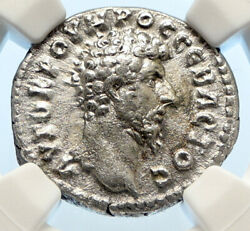 Lucius Verus Authentic Ancient Rome Silver Roman Coin Parthia Victory Ngc I94473