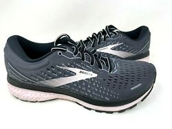 Brooks Womenand039s Ghost 13 Lace Up Running Shoes Char/pnk 1203381 Size9 146t Z