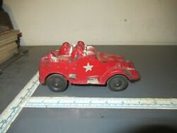 Vintage 1940s Sun Rubber Toys Us Army Toy Soldier Ww11 M3 Armored Scout Car