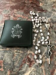 Pope John Paul Ii Blessed Vatican Rosary Given For Close Friend With Envelope