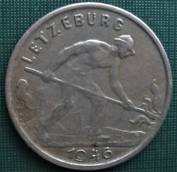 Luxembourg 1946 One Franc 1 Dollar Smelter Worker 1 Coin Low Shipping