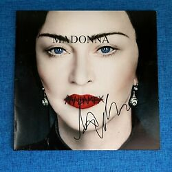 Madonna Signed Madame X 12and039and039 Vinyl Lp Record Icon Fan Club Autograph Clear Promo