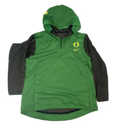 Oregon Ducks Team Issue Pullover Warm Up Hood Men#x27;s Large Removable Sleeves