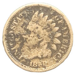 1859 Cn Indian Head Cent Better Date Coin   Free Shipping 8408