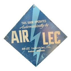 Vintage Doors Open Automatically Air-lec Wisconsin Sign