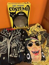 Vintage 1960s Ben Cooper Brooklyn Halloween Witch Costume Complete Mask Box Euc