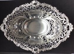 Beautiful Gorham Sterling Silver Centerpiece Bowl Pierced Spaulding And Co. 1890s