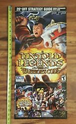 Untold Legends The Warrior's Code Video Game Store Display Sign 2006 Sony Psp