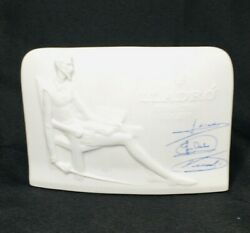 Lladro Collectors Society Bisque Sign Display Signed Plaque