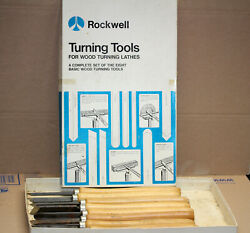 Vintage Delta Rockwell Wood Working Lathe Turning Tools Complete Set Of 8