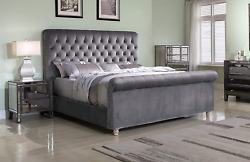Best Master Furniture Jean-carrie Upholstered Sleigh Bed Queen Grey