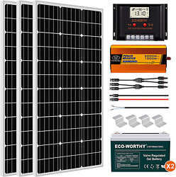 Eco-worthy 600w Solar Panel Kit Complete Solar Power System With Battery And Inv