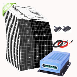 Giosolar 1200w Flexible Solar Panel Kit With 60a 12v 24v Mppt Charge Controller