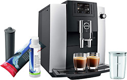 Jura E6 Platinum Automatic Coffee Machine Set With Smart Water Filter, Milk Syst