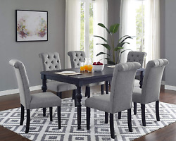 Roundhill Furniture Leviton Urban Style Counter Height Dining Set Table And 6 C