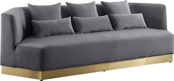 Meridian Furniture Marquis Collection Modern | Contemporary Velvet Upholstered S