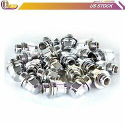 20 Pieces 1.18and039and039 M12x1.5 Of Flat Mag Lug Nuts For Toyota Avalon Pontiac Saturn