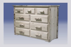 Montana Woodworks Collection 9 Drawer Dresser, Clear Lacquer Finish